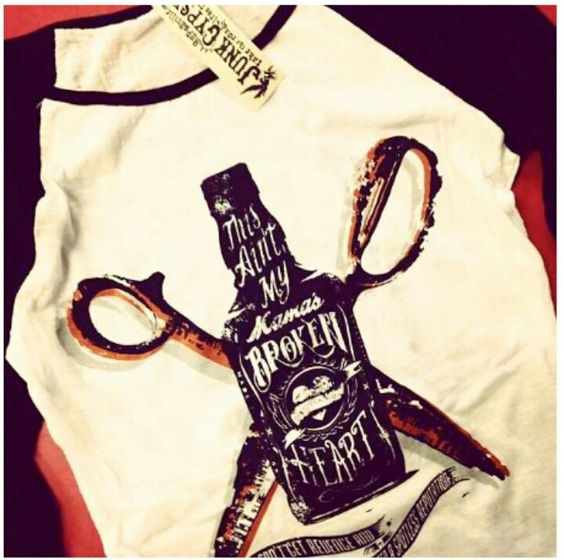 """""""Ain't My Mama's Broken Heart"""" shirt from Junk Gypsy ~ obsessed"""