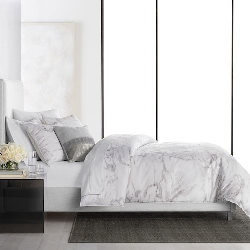 Simply Vera Vera Wang Marble 3 Piece Comforter Set Marble Bed