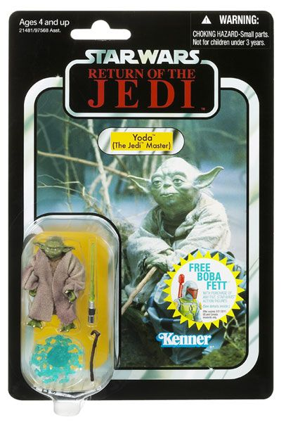 Vintage Collection Yoda Action Figure (VC20) on Return of the Jedi Card