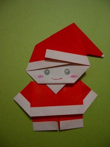 Santa origamei diy so cute share your craft for Make origami santa claus