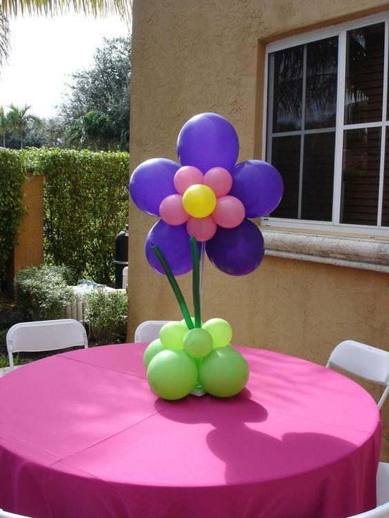 Balloon centerpiece ideas character cutout rental