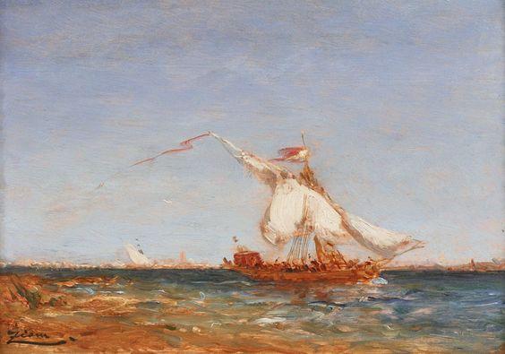 Leeward boat by Felix Ziem