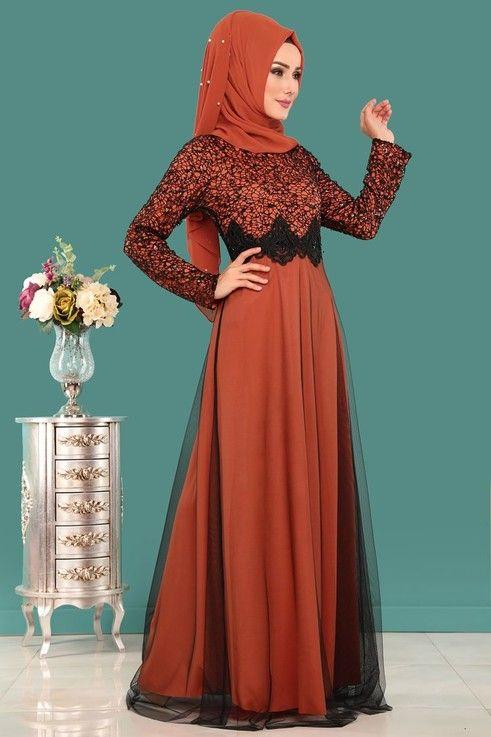 Modaselvim Abiye Gupurlu Tul Etek Abiye Ech7224 S Kiremit Formal Dresses Long Dresses Formal Dresses