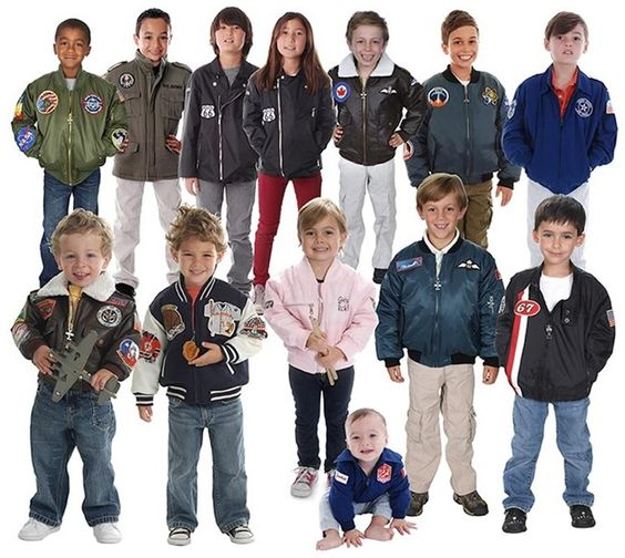 Toddler and Kids MA-1 Flight Jacket, Bomber Jacket, Motorcycle ...