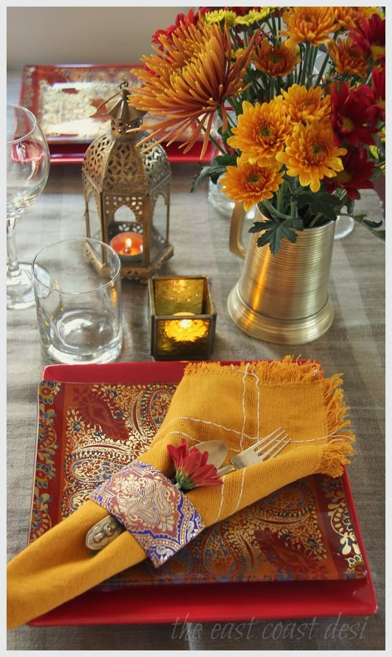the east coast desi: Diwali Tablescape Inspiration - Day 1:
