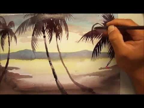 690 Art Class   Sunset Watercolour