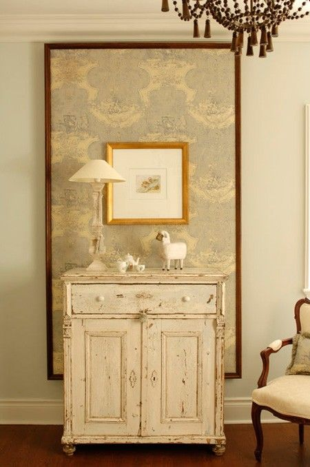 Storage In A Girl's Bedroom ~An antique cabinet creates a grown-up look.: