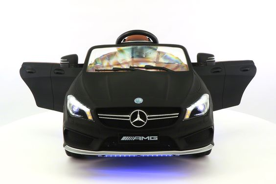Black Mercedes CLA 45 AMG- Kids Ride on Car-Battery Powered Wheels- Parental Remote Control- MP3 USB player