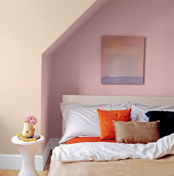 Crown Bedroom Ideas: Dusky Pink Bedroom Painted With Crown Earthbalance