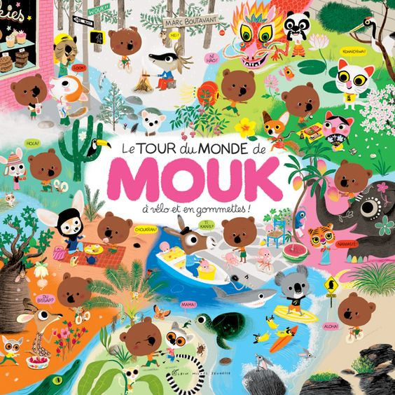 A beautiful, elaborately illustrated story of Mouk's trip around the world -- Marc Boutavant