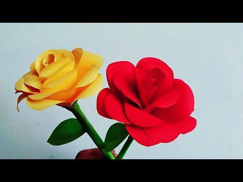 Bunga Mawar Dari Kertas Cara Membuat Bunga Mawar Dari Kertas Origami Youtube Paper Roses Handmade Flowers Paper Diy Crafts Paper Flowers