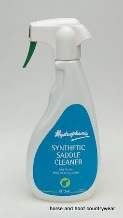 Hydrophane Synthetic Saddle Cleaner Low foaming biocidal formulation for effectively removing dirt from synthetic saddles leaving them hygienically clean.