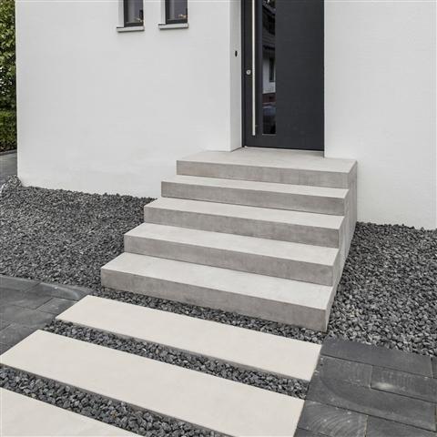 BETOLINE Blockstufe Stufen und Treppen für Garten und Terrasse - design treppe holz lebendig aussieht