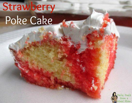 Lemon Jello Cake Recipe Poke: Fresh Fruit, Strawberry Poke