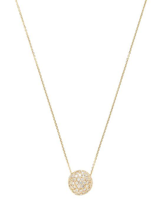 Estate Pave Diamond Disc Pendant Necklace by Estate Fine Jewelry at Gilt