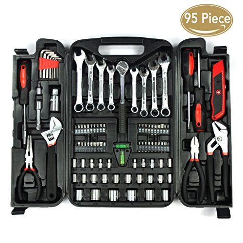 Kingorigin 95 Piece Home Repair Tool Kits Multi Tools Set