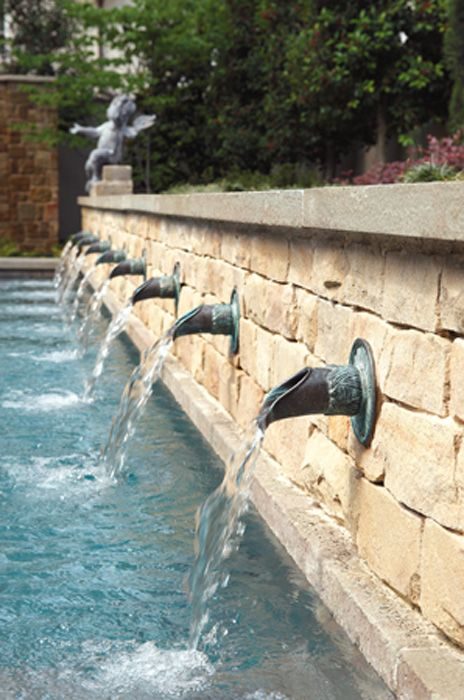 Fountain spouts and scuppers google search pool spouts for Pool design water feature