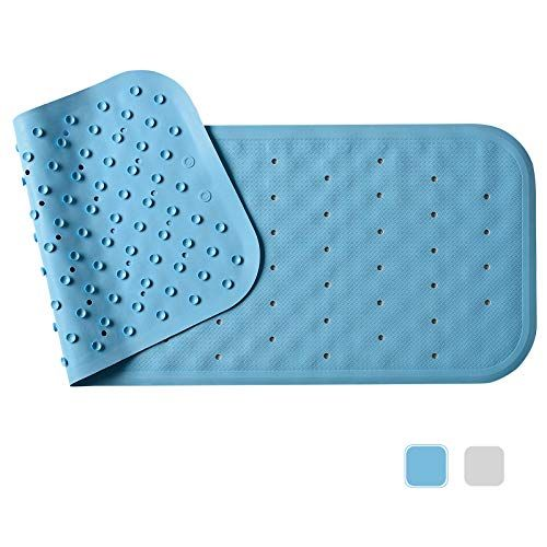 Looking The Best Gifts For Seniors Veeyoo Non Slip Bath Mat For Tub Natural Rubber Shower Mat Anti Bacterial Ba With Images Rubber Shower Mat Shower Mat Bathtub Mat