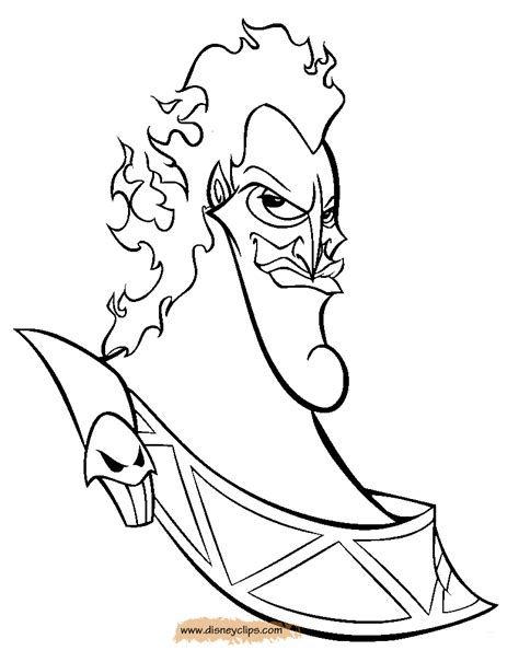 Hades Coloring Page Disney Villains Coloring Pages Online Wallpaper Disney Tattoos Disney Coloring Pages Coloring Books