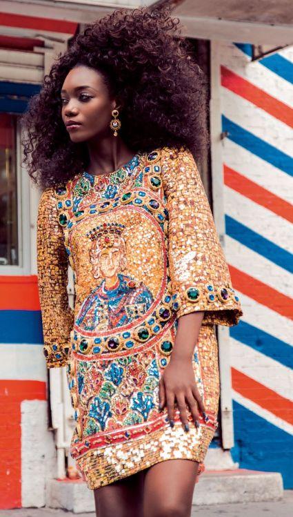 Its African inspired.  ~African fashion, Ankara, kitenge, African women dresses, African prints, Braids, Nigerian wedding, Ghanaian fashion, African wedding ~DKK