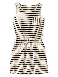 Stripe slub dress