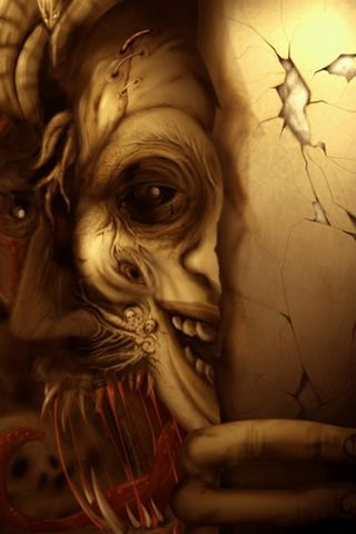 Scary clown iphone wallpaper hd you can download this - 3g wallpaper hd ...