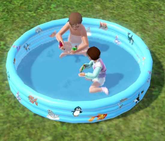 Pool for toddlers and children cloned from dollhouse for Pool design sims 3