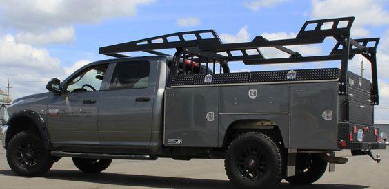 Aluminum Service body for pickup trucks for utility works