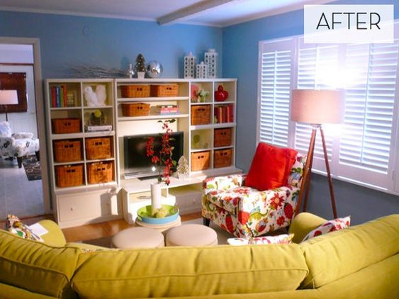 Kid-Centric Living Room Makeover Posts, Colors and Room makeovers