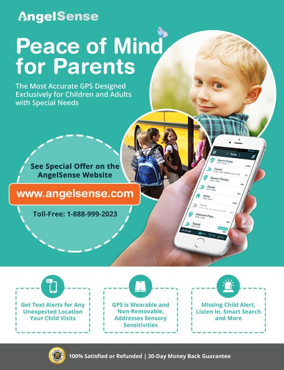 Peace of mind for parents. The most accurate GPS designed exclusively for children and adults with special needs.