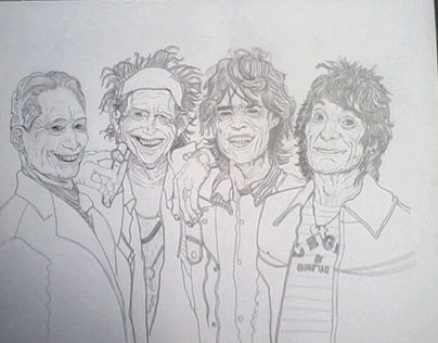 """Check out new work on my @Behance portfolio: """"The Rolling Stones"""" http://be.net/gallery/40743373/The-Rolling-Stones"""