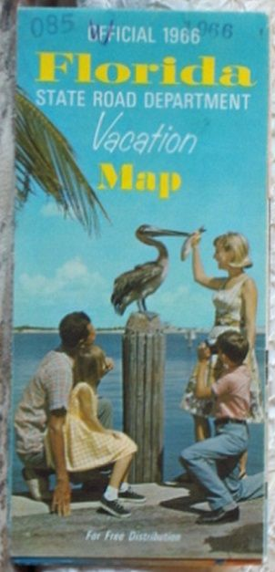 http://ajunkeeshoppe.blogspot.com/  ROAD MAP 1966 Florida State Road Department Vacation Spots And Highway Routes