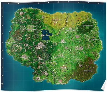 Fortnite Map Poster Fortnite Map Seasons