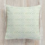 """Minty Herring"" - Pillows in Moss by Heritage and Joy."
