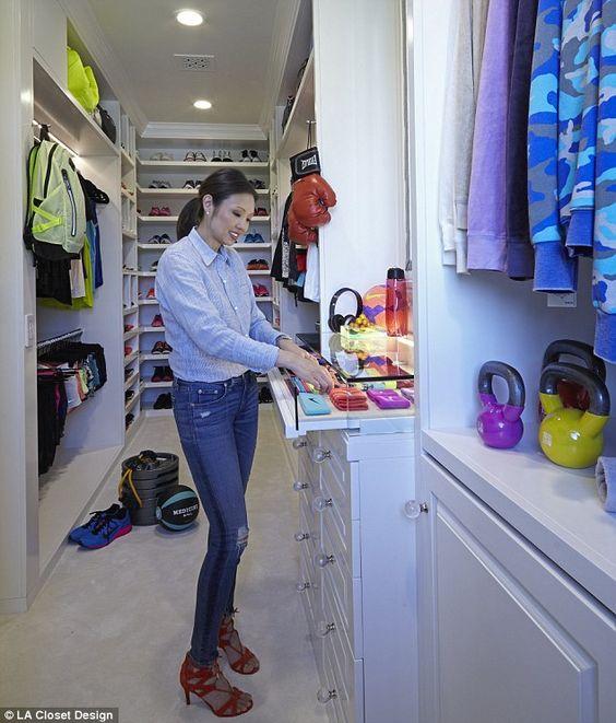 LA Closet Design CEOLisa Adams said: 'Khloé loves the glass case display for her accessor...