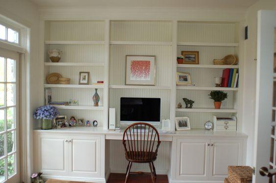Custom Wall Unit Bookcases - Artisan Custom Bookcases | Desk ideas | Pinterest | Built in desk ...