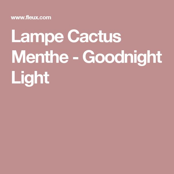 Lampe Cactus Menthe - Goodnight Light