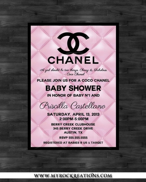 chanel baby shower chanel party and baby showers on pinterest