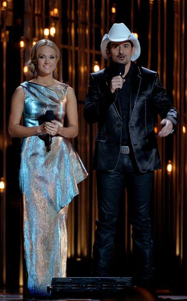 Carrie Underwood - General Views of the CMA Awards Trophy