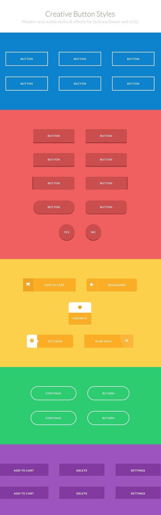CSS3 Creative Buttons http://tympanus.net/Development/CreativeButtons/