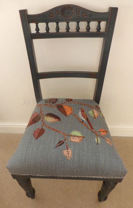 Autumn leaves and Mistle thrush Chair