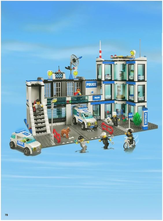Lego City Police Station 7498 Instructions 1070 Enews