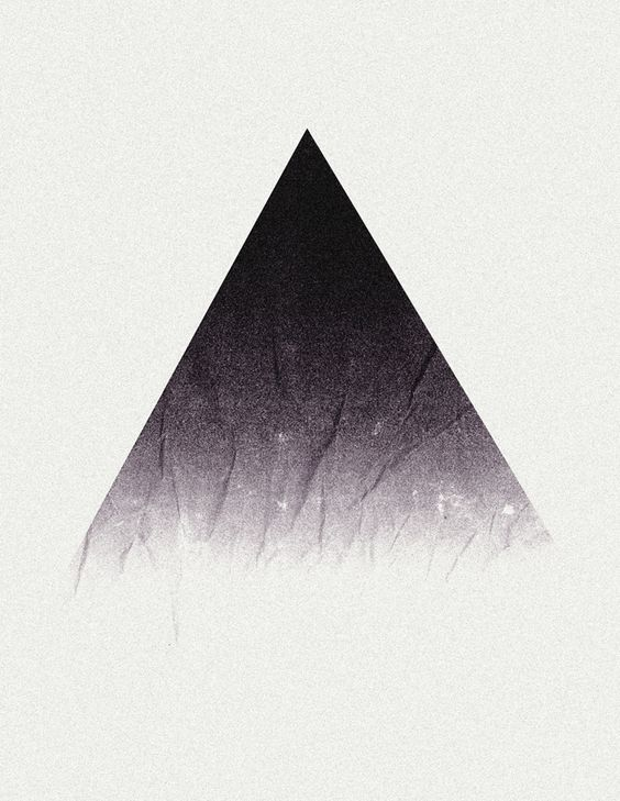 an isosceles triangle delta the symbol for change because it is
