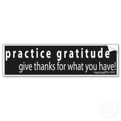 Gratitude is the right attitude