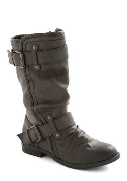 Speed Rumple Boots in Charcoal, #ModCloth
