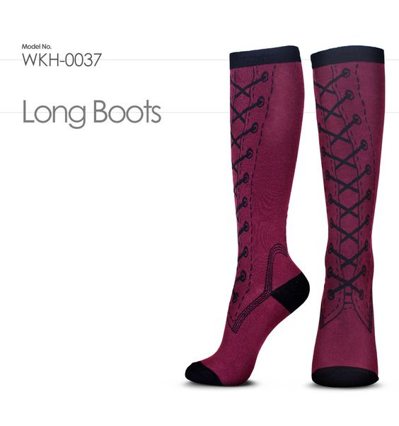 WKH-0037 : Long Boots /  How about putting on long boots on a rainy day ?