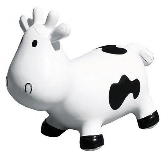Betsy la vache sauteuse blanche et noire