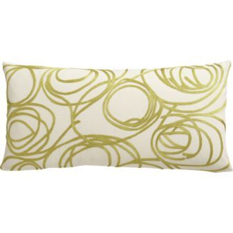 "lasso 23""x11"" pillow in pillows | CB2"