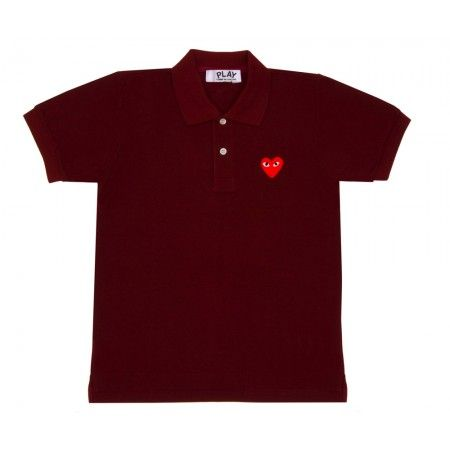 Red Play Polo Shirt (Burgundy) | Play | Comme Des Garçons
