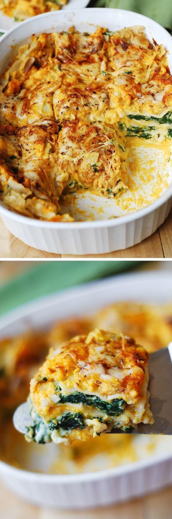 three cheese lasagna spinach